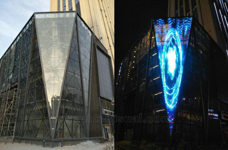 Outdoor advertising led curtain