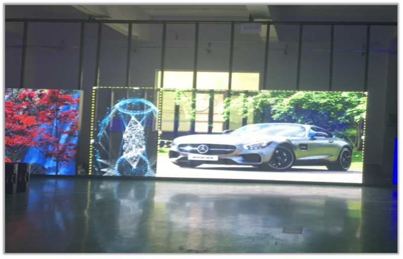 HKT transparent led display